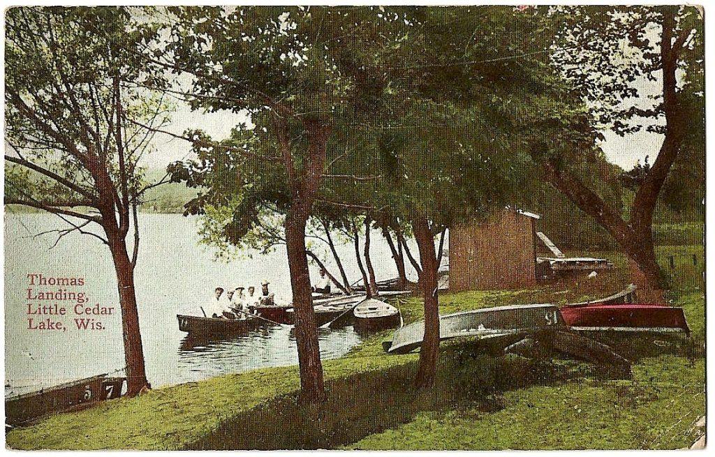 Thoma's-5 fishermen in boat-circa 1910